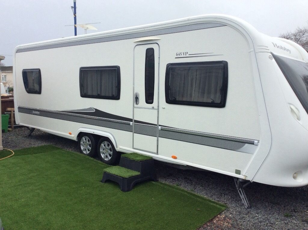hobby caravan 2010 645 vip excellent condition in. Black Bedroom Furniture Sets. Home Design Ideas
