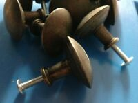 knobs - great quality - 12 identical - metal - cupboards, drawers or wardrobes