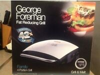 Excellent.George Foreman fat reducing grill nearly new ..used once still in box