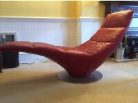Designer Italian Leather Chais Longue by NATUZZI
