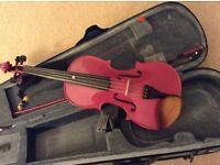 Beautiful violin purple/pink sparkle.