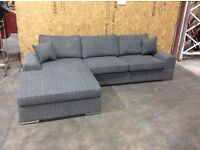 Grey Fabric Verdori Jumbo Corner Sofa - NEW - £499 Including Free Local Delivery - RRP £849