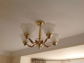 As New 5 Light Chandeliers 4 off - will separate to meet buyers requirements