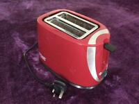 Russell Hobbs Red Electric Toaster.