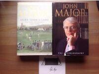 JOHN MAJOR - 2 BOOKS PLUS SIGNED NAME PLATE