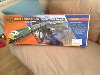 Rare hornby Eddie stobart express rail train set in mint condition