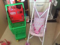 Trolly and pushchair