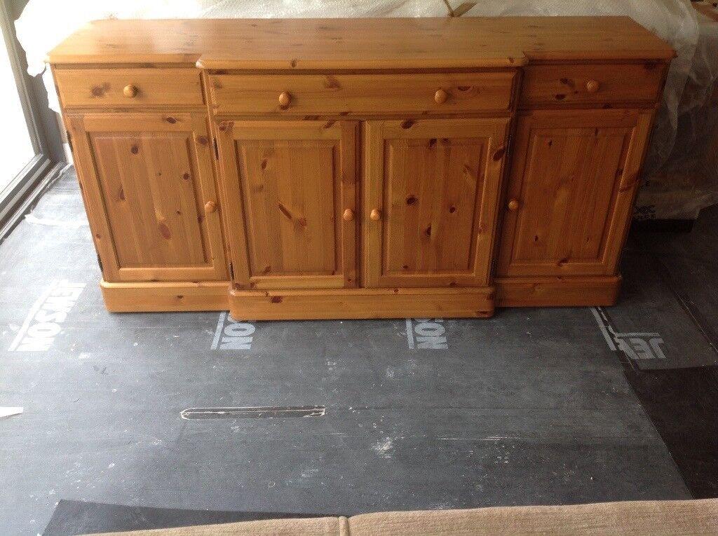 Ducal dining/living room sideboard in Medium Oak finish