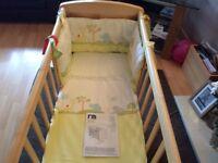 Mothercare deluxe gliding crib
