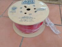 100M DRUM OF AEI ENHANCED FP200 2-CORE 1.5MM RED CABLE