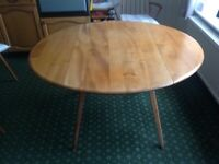 Vintage Ercol elm dining table