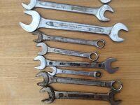 Bundle/job lot assorted spanners good quality