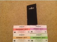 Goodwood Festival Of Speed 2 Sets of Full 4 Day Tickets