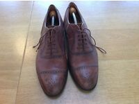 Italian leather shoes size 9 1/2 G
