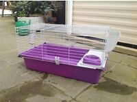 Guinea pig cage nearly new complete with water jug and feed trays