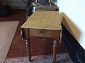 Victorian kitchen drop leaf pine table
