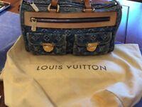 Louis Vuitton denim doctor-bag style