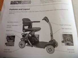 Mobility scooter- 4 wheeled, easily dismantled for car boot