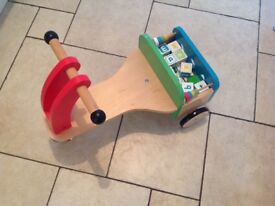 Wooden trike from early learning centre