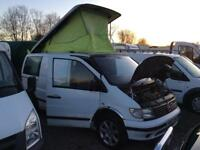 Mercedes vito pop roof camper motd ready to go