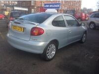 RENAULT MEGANE COUPE SPORT FIDJI EDITION 1.4 2002 ONLY 64000 MILES PSH ONE YEAR MOT STUNNING EXAMPLE