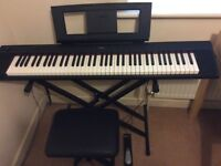 YAMAHA NP-32B DIGITAL KEYBOARD WITH STAND, SUSTAIN PEDAL & BENCH