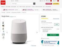 Google Home Speaker, Boxed,