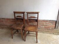 Pair of old church or chapel chairs