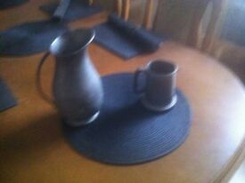 for sale pewter jug and tanker