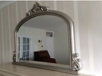 Mirror,Wooden silver finished.