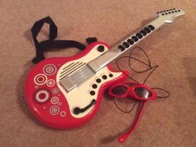 Early Learning electric toy guitar music, notes, glasses with built in microphone and lights