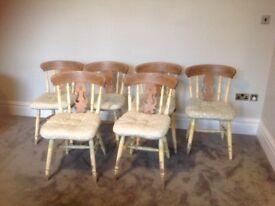 6 Shabby Chic Kitchen Chairs