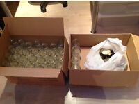 30 x1lb clean jam jars with lids if required.Mostly new and unused direct from manufacturer