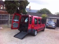Renault Kangoo 1.2 16v Authentique 5dr, WHEELCHAIR ACCESSIBLE VEHICLE, LONG MOT, FULLY SERVICED.