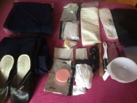 Navy trousers & tunic plus make up accessories