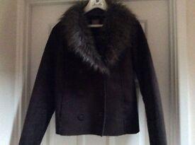 Dark brown swede effect jacket