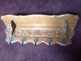 Decorative Dutch Wooden Coat Rack