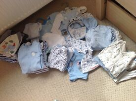 Baby boy clothes bundle, size newborn and up to one month