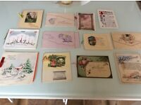 SELECTION OF GREETING CARDS ANTIQUE