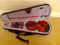 Violin 3/4 along with case