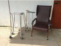 Zimmer, chair and walking sticks .