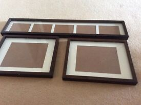 Dark wood photo frames