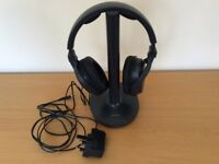 Sony wireless headphones rechargeable on RF stereo transmitter