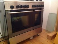 Kenwood Dual Fuel Free Standing Range Cooker 5 gas rings, electric oven