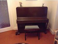 Piano with piano stool