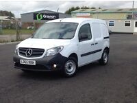 DEC 2015 MERCEDES CITAN CDI LONG WHEEL BASE WITH ALL THE OPTIONS. 2 SIDE DOORS. PLY LINED.