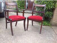 Dining Table & chairs Mahogany