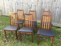 6 G plan Fresco dining chairs
