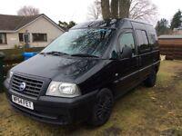 54 Fiat Scudo SX JTD 2.0 hdi, Black, FSH, Domestic use only, Great Condition, 6 Seats, Full windows