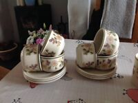 M&S Autumn leaves 6 coffee cup and saucers and 6 mugs excellent condition